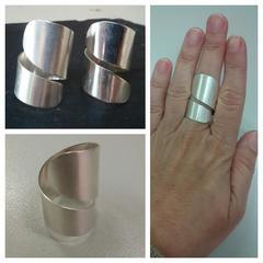 Maxi anillo en plata de ley