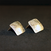 Pendientes rombos texturizados (Plata de ley)